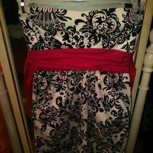 EUC Adorable Speechless Strapless Pockets Dress SZ